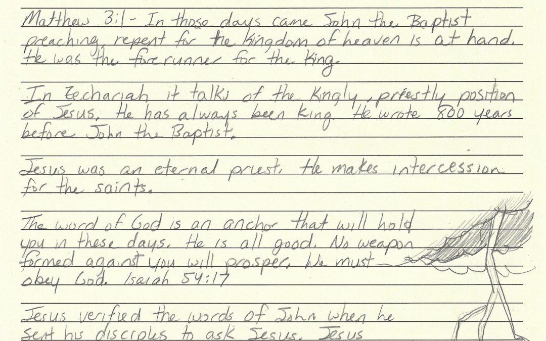 3/28/2020 Sermon & Word