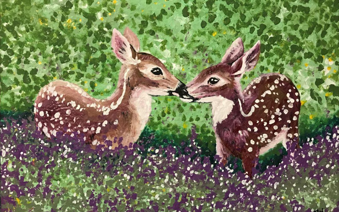 Fawns in the Flowers – Art with a Cause